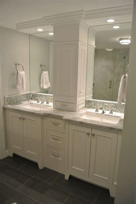 double vanity storage tower love  doors   sides