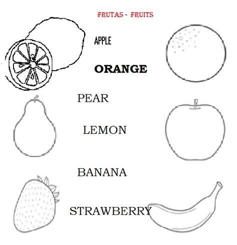 frutas para colorear en ingles imagui dibujo de frutas en ingl 233 s para colorear imagui