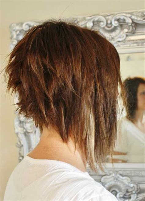 dramatic short back long front bob choppy bob back view www pixshark com images galleries