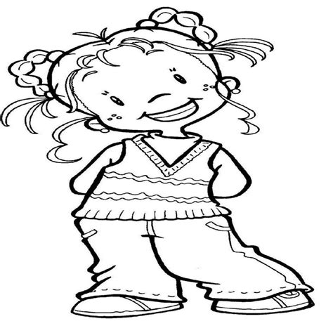 imagenes tiernas niños para colorear imagenes de caricaturas para colorear de ni 195 os y ni 195 as