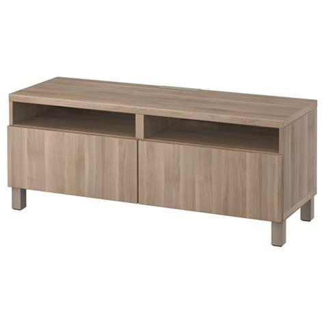 besta lappviken besta lappviken tv bench grey walnut effect push open rail