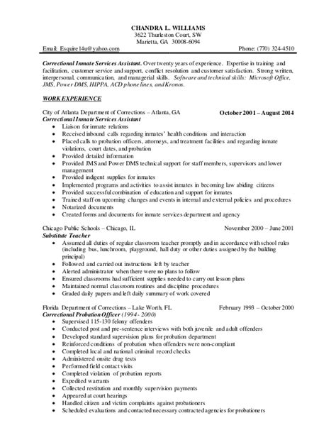 Probation And Parole Officer Sle Resume by Probation And Parole Officer Resume