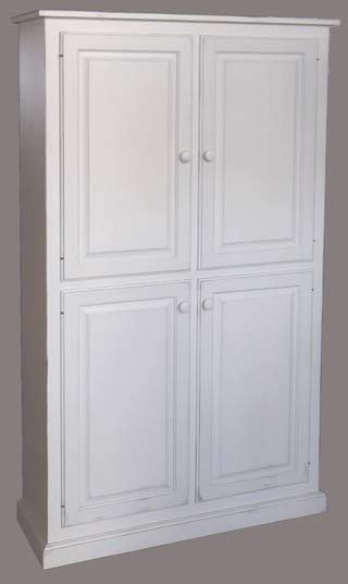Unfinished Pine Kitchen Cabinets by 4 Door Wide Pantry Cupboard