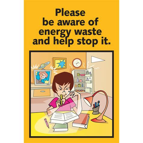 design poster highlighting energy conservation ai eschp1000 1 please be aware of energy waste and help