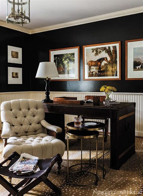The Office Black by Office Space Of The Day Black Walls The Decorista