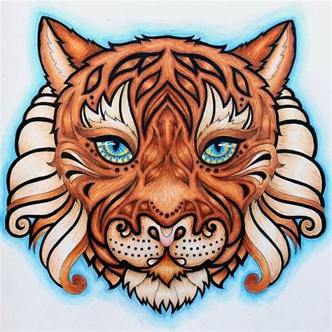 tiger colors tiger complete colors used cerulean blue non