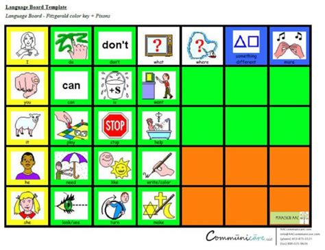 communication board template 121 best images about aac on language