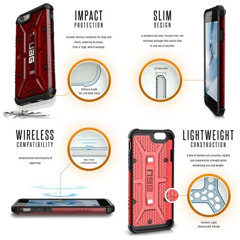 Uag Iphone 6 Plus6s Plus Composite Magma carcasa uag composite iphone 6 6s magma lerato