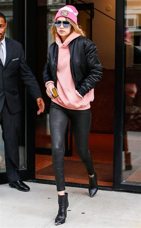 more pics of gigi hadid leather pants 1 of 14 leather pants gigi hadid from the big picture today s hot pics the