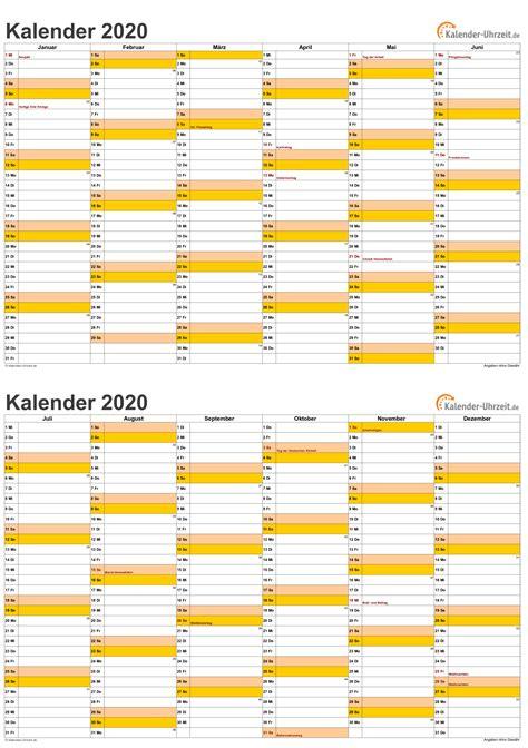 kalender  zum ausdrucken mit ferien