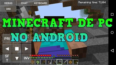 minecraft pc on android minecraft de pc no android gameplay