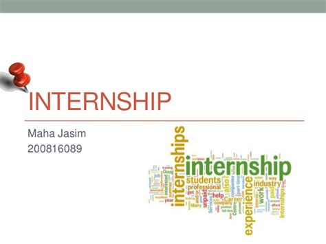 Internship Final Presentation Internship Presentation Template