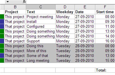 Calendar Spreadsheet Sync Gtimereport Creating Time Reports From Your