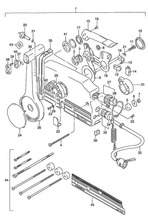 Fig. 55 - Remote Control - Suzuki DT 140 Parts Listings