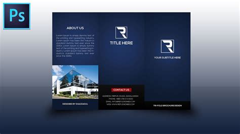 illustrator tutorial tri fold brochure design youtube tri fold brochure design photoshop tutorial youtube