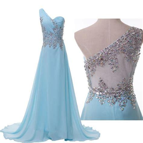 womens light blue dress grace karin women s one shoulder formal evening dress size