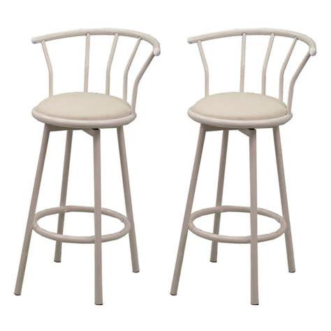 29 inch metal bar stools white finish metal 29 inch swivel bar stool set of 2