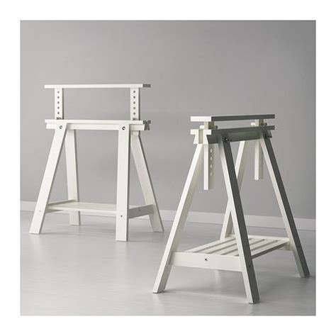 Finnvard Trestle With Shelf by Finnvard Wood Table Tops Standing Desks And Tables