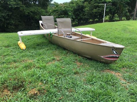 aluminum boat stabilizers diy outriggers using foam floats for canoe stability