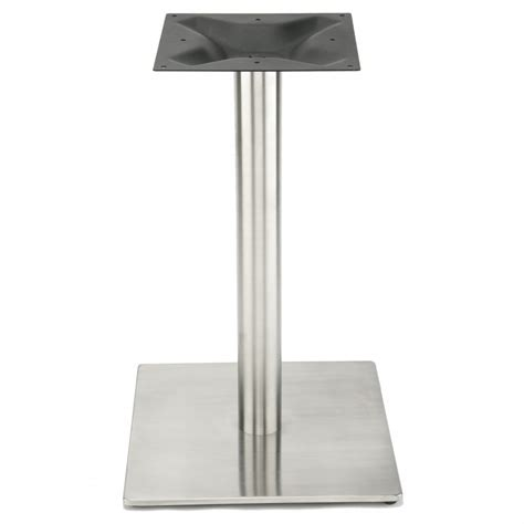 stainless steel table bases dining rsq450 stainless steel table base dining height 28 1