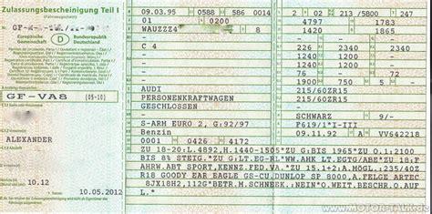 Auto Anmelden Ohne Fahrzeugschein by Fahrzeugschein S6 Hat Jemand 235 40r18 Ohne