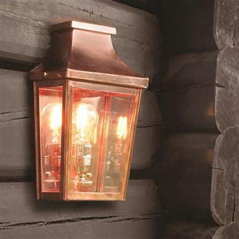 copper exterior wall lights elstead lighting chelsea cs7 2 copper half exterior wall