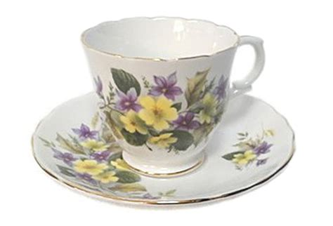 Tea Cup 5 by Staffordshire Tea Cup And Saucer Purple Violets Omero Home