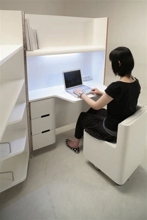 small fold up desk space saving furniture compact kitchen guest room and office