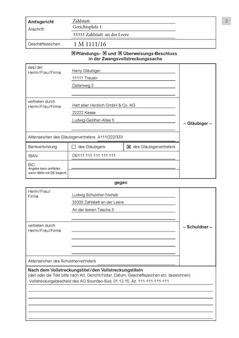 Muster Mahnung Lohnforderung Antrag Mahnbescheid Formular Adobe