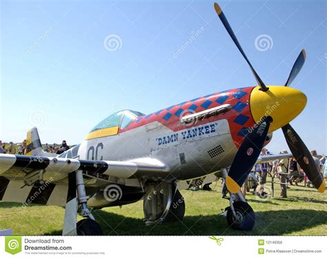 mustang fighter plane wwii ww2 mustang fighter plane editorial photo image