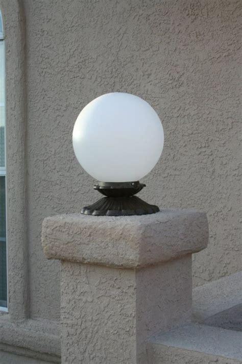 globe fence light yardbright landscape lighting