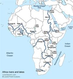 Map Of Africa With Rivers by Test Your Geography Knowledge African Rivers And Lakes