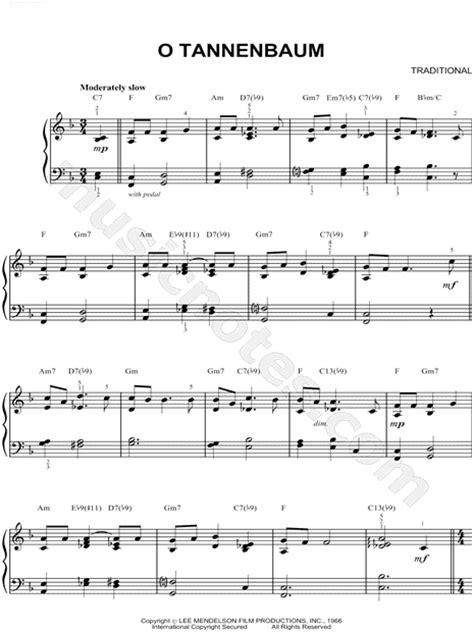 vince guaraldi trio quot o tannenbaum quot sheet music piano solo