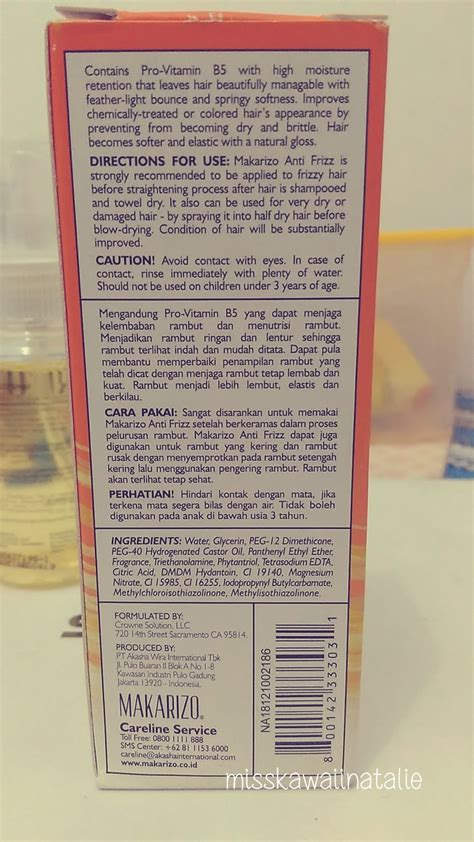 Harga Produk Makarizo Anti Frizz Spray all about review review makarizo anti frizz spray