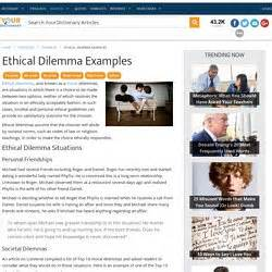 Ethical Dilemma Essay Exle by Best Mba Essays Sle