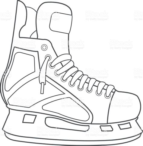 hockey skates coloring pages skates hockey ammunition sports equipment black white