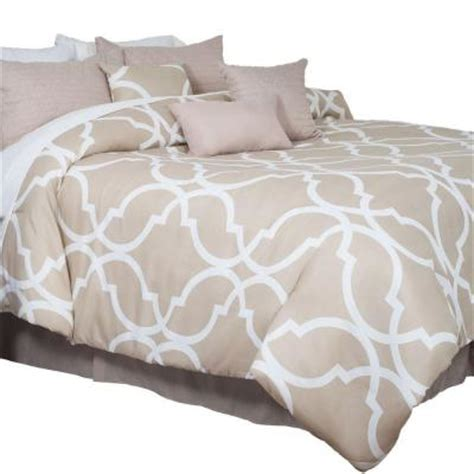 trellis comforter lavish home trellis tan 7 piece king comforter set 66 13
