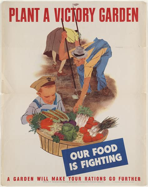 patriotic victory garden poster from vintage 1943 world