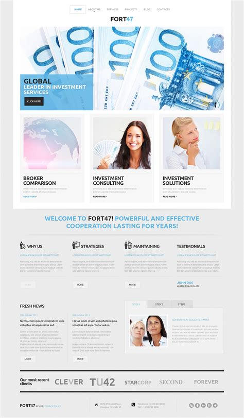 wordpress themes live preview live preview for investment business wordpress theme 46788