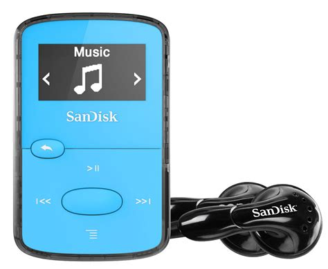 sandisk sansa clip jam mp3 player 8gb blue