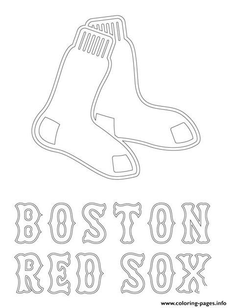 mlb coloring pages boston sox logo mlb baseball sport coloring pages
