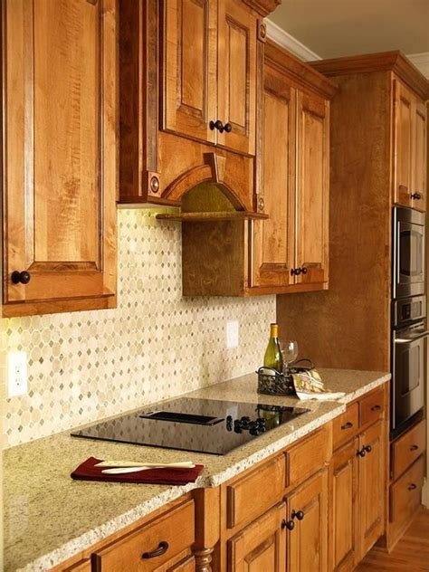 kitchen backsplash ideas  oak cabinets kitchendecorpad