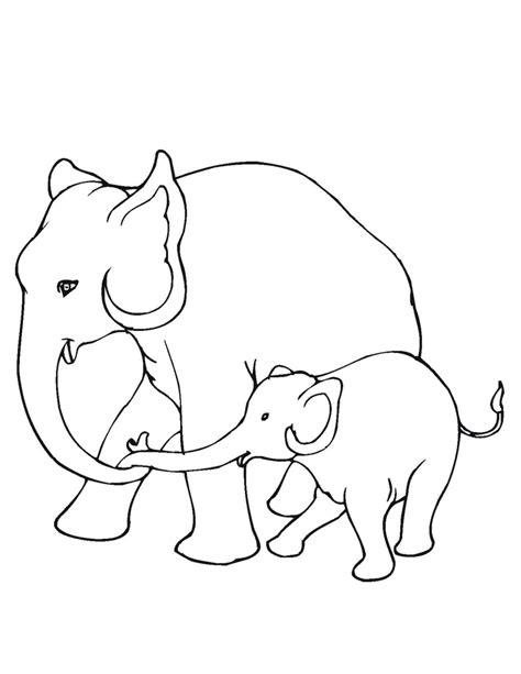 imagenes para colorear elefante dibujos de elefantes bebes para colorear