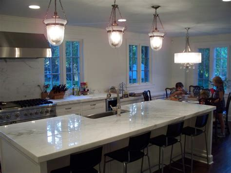 customer s new kitchen island and area