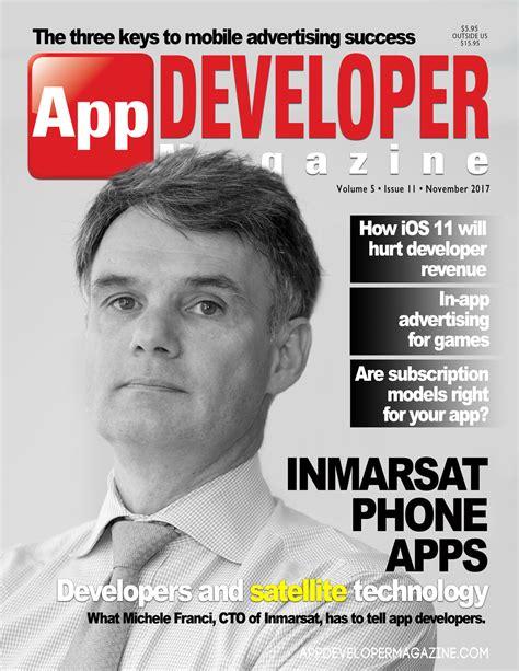 desain cover majalah app developer magazine