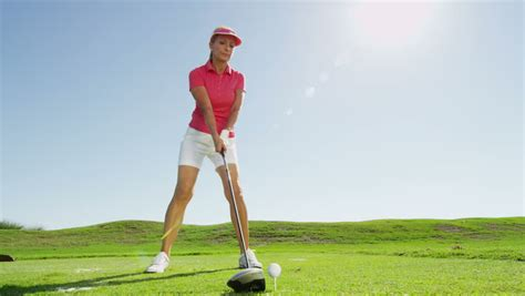 golf swing for women golf swing stock footage video shutterstock