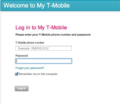 where is my mobile my t mobile login