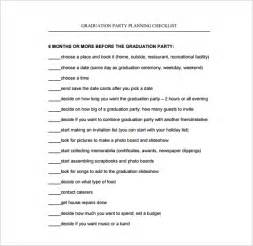 Graduation Checklist Template planning templates 16 free word pdf documents