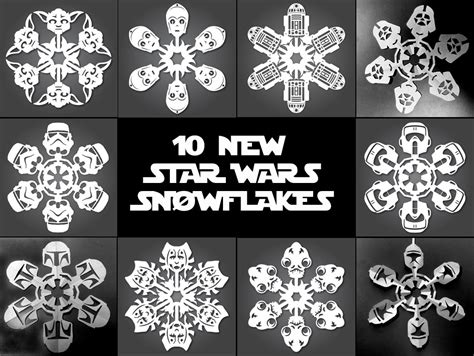 printable snowflake patterns star wars it s snowing star wars 10 new diy star wars paper