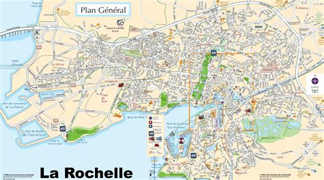 map of la rochelle la rochelle tourist map